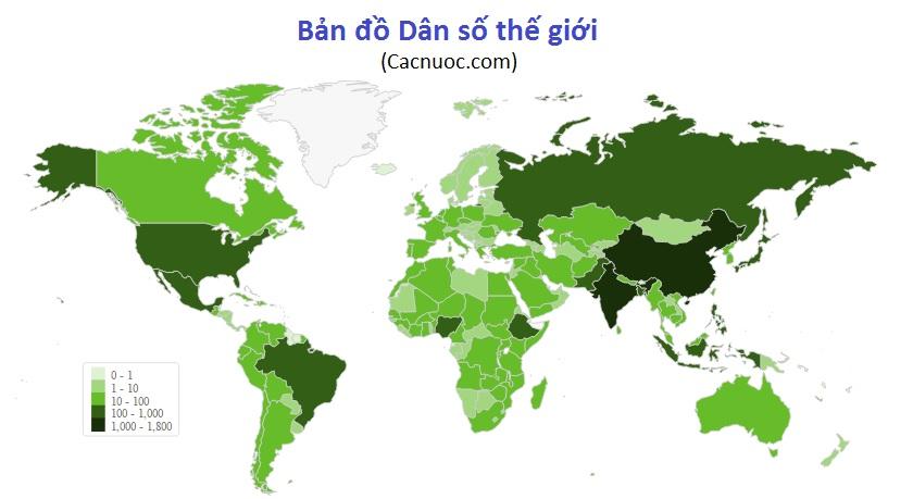 Bản đồ dân số theo quốc gia