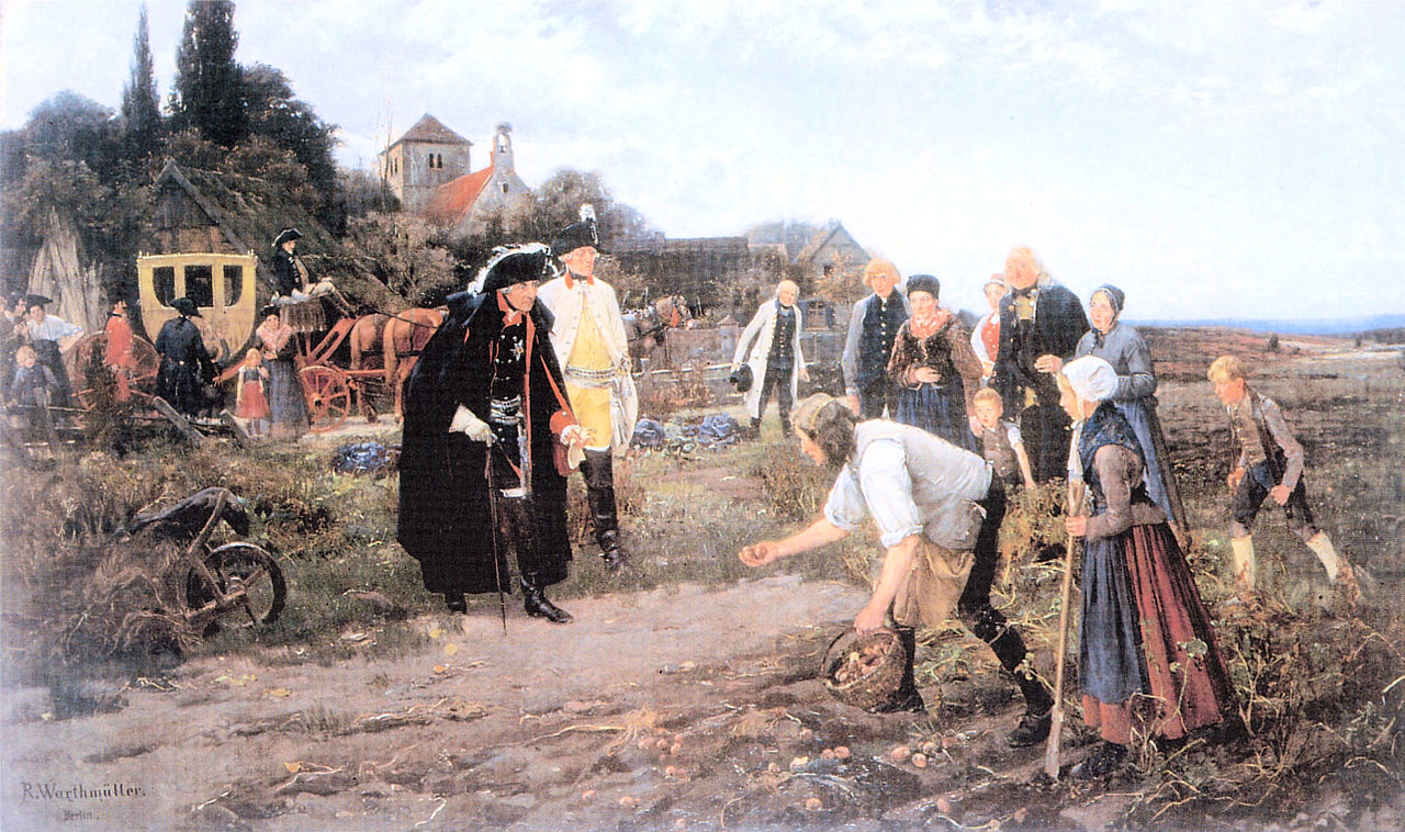 Frederick II trồng khoai tây