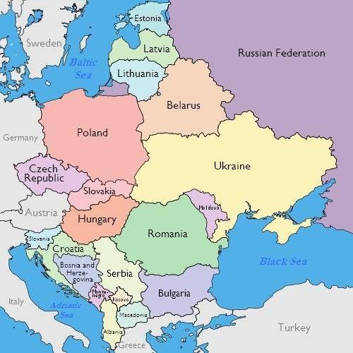 Danh sách các nước Đông Âu