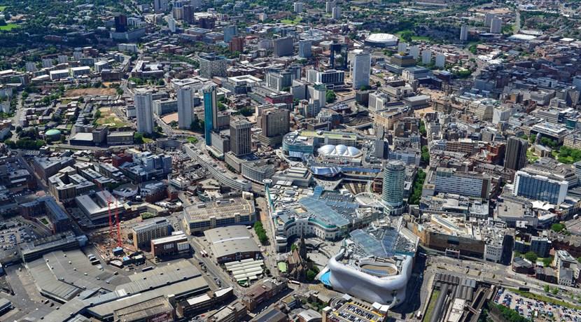 Thành phố Birmingham nhìn từ trên cao