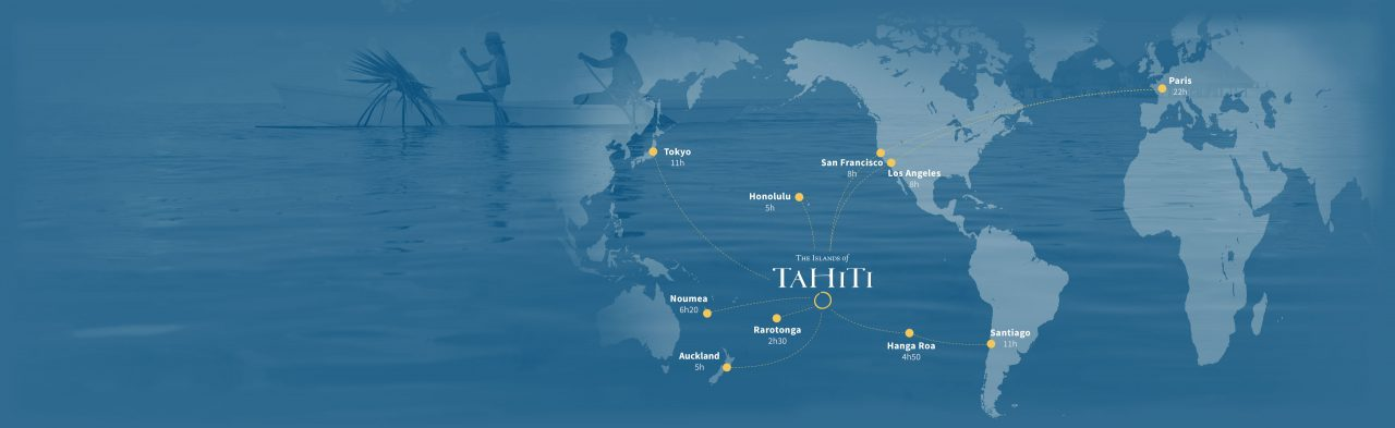 vị trí đảo Tahiti