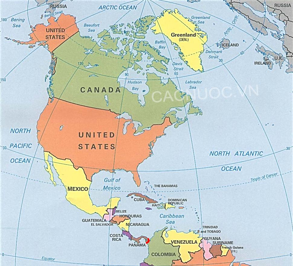 Danh sách các nước Bắc Mỹ
